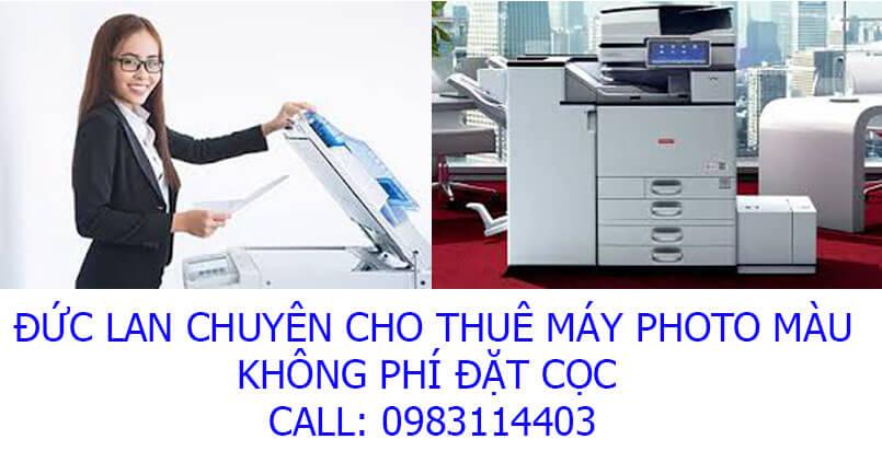 Máy photocopy màu thuê ở đâu tốt nhất?