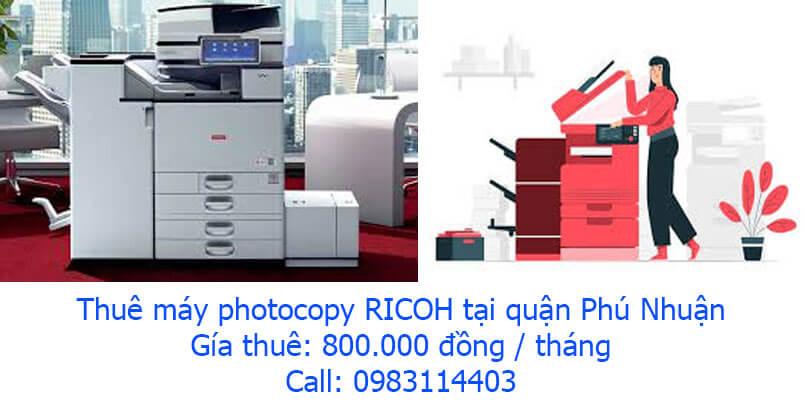 Linh Dương chuyên cho thuê máy photocopy tại quận Phú Nhuận giá rẻ