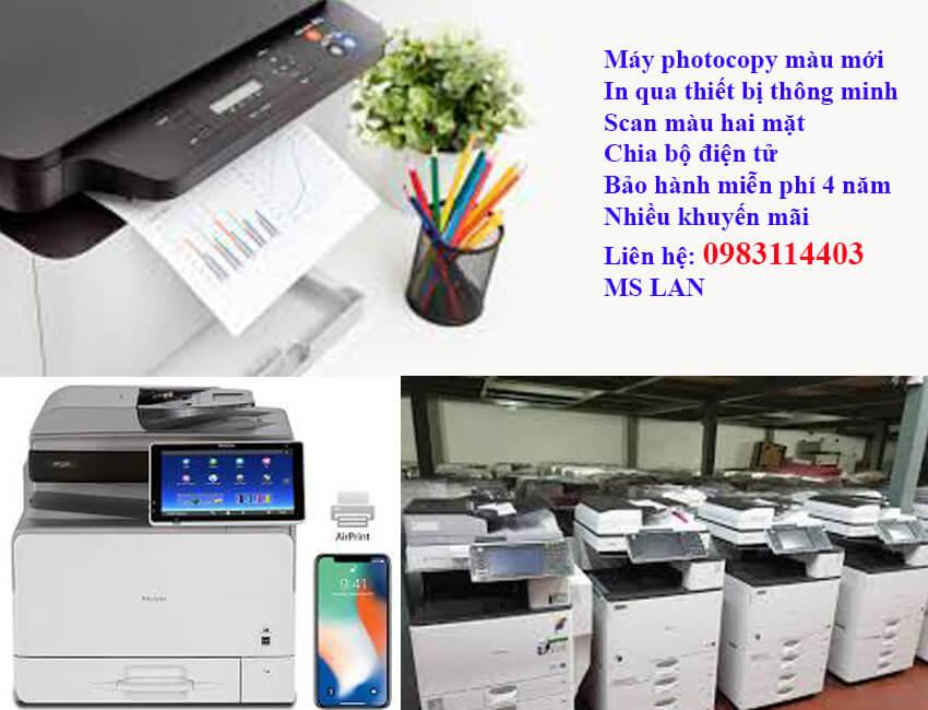 Bán máy photocopy màu giá rẻ bảo hành như máy mới
