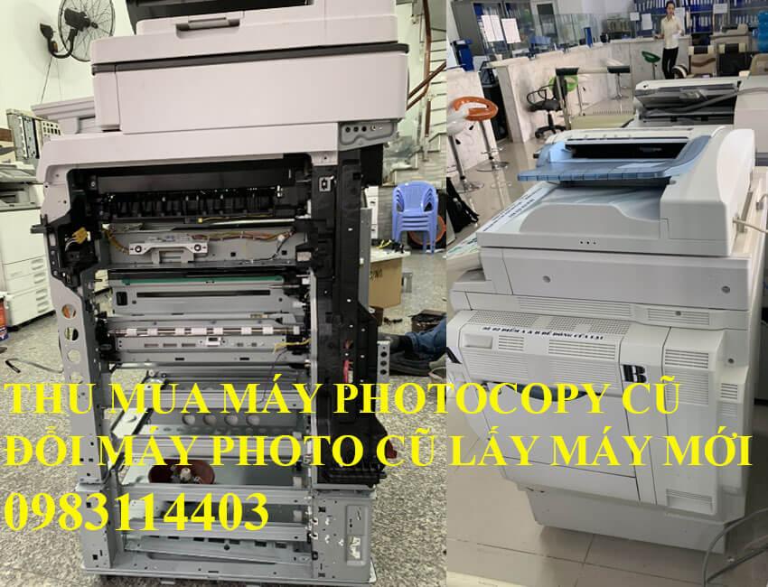 Thu mua máy photocopy cũ đổi máy mới