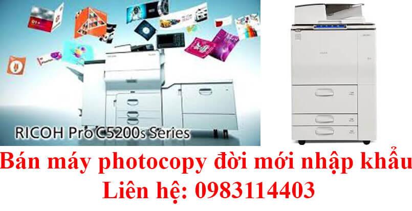 Bán máy photocopy quận Tân Bình bảo hành máy 4 năm