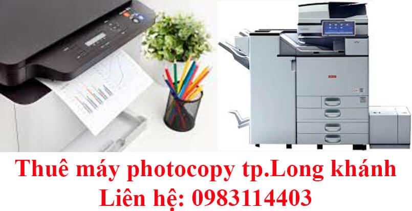 Thuê máy photocopy tp.Long Khánh máy mới 95%