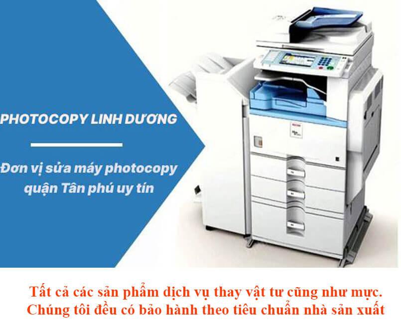 Sửa máy photocopy quận Tân Phú tận nơi